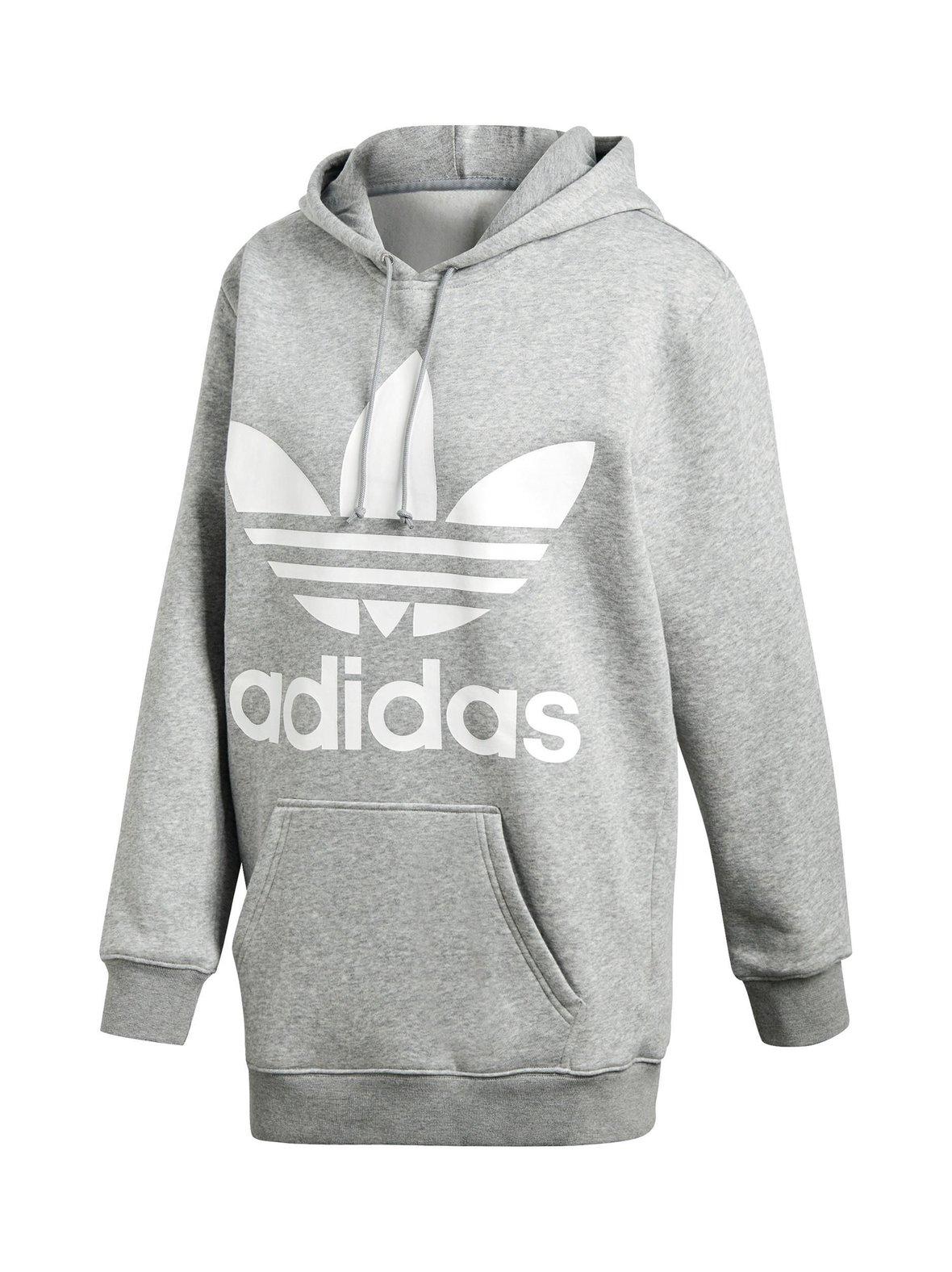 Medium Grey Heather (harmaa) Adidas Originals Trefoil Loose Fit ... eb2f301dfb