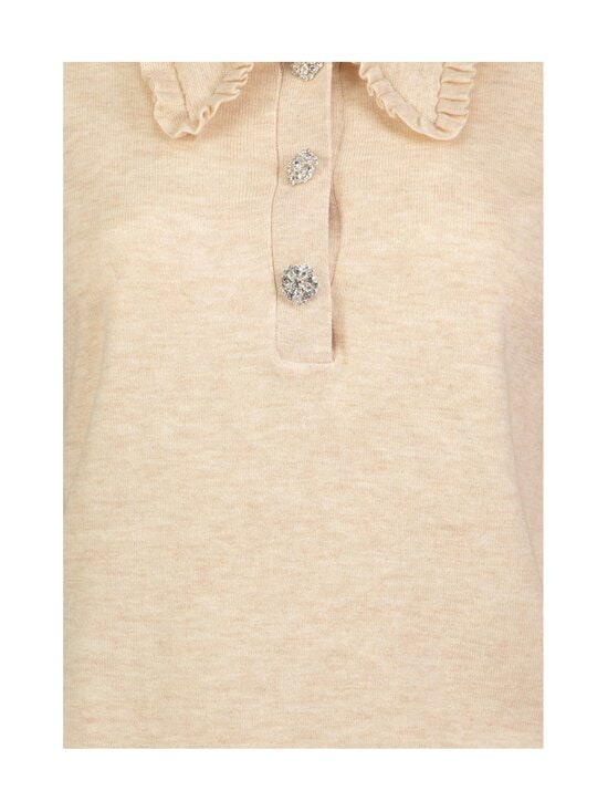 Neo Noir - Gemma Diamond Knit Blouse -neule - 119 SAND MELANGE   Stockmann - photo 3