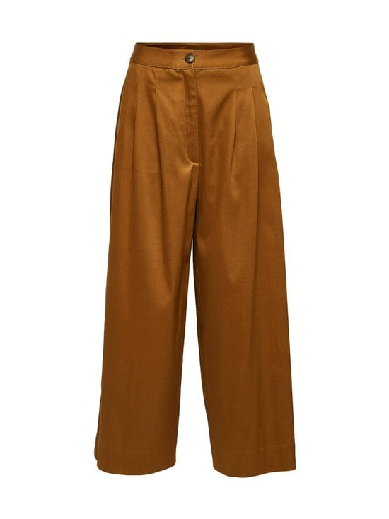 Selected - SlfMilla HW Wide Pant W -housut - BRONZE BROWN | Stockmann - photo 1