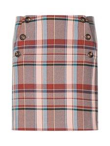Tommy Hilfiger - Cotton Blend Check Mini Skirt -hame - 0PQ CAMEO CHECK | Stockmann