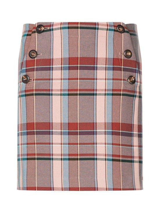 Cotton Blend Check Mini Skirt -hame