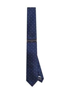 Tommy Hilfiger Tailored - Silk Blend Dot Tie -silkkisekoitesolmio - 0HA NAVY/ WHITE   Stockmann