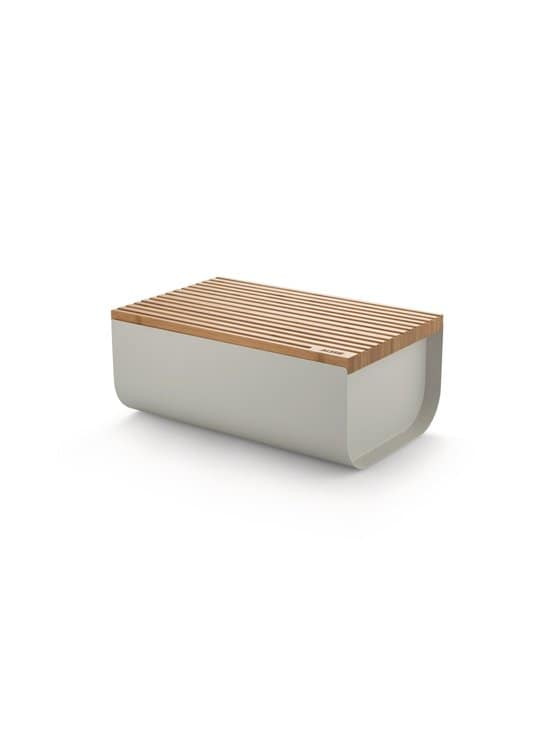 Alessi - Mattina Bread Box -leipälaatikko - WARM GREY/BAMBOO   Stockmann - photo 1