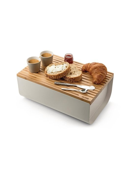 Alessi - Mattina Bread Box -leipälaatikko - WARM GREY/BAMBOO   Stockmann - photo 4