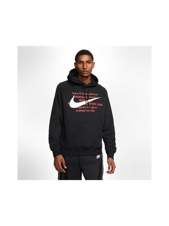 Nike - Swoosh Hoodie -huppari - 010 BLACK/WHITE | Stockmann - photo 3