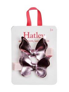 Hatley - Pink Shimmer Bowterflies -hiusklipsi 2 kpl - PINK | Stockmann