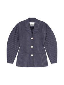 Ganni - Strech Stripe Blazer -bleiseri - DRESS BLUES | Stockmann