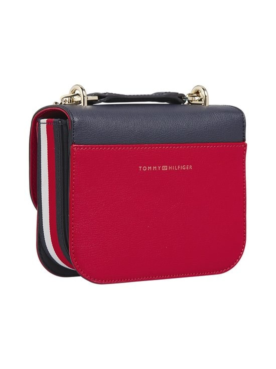 Tommy Hilfiger - Turnlock Small Leather Crossover Bag -nahkalaukku - CJM SKY CAPTAIN/RED | Stockmann - photo 2