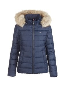 Tommy Jeans - TJW Basic Hooded -untuvatakki - C87 TWILIGHT NAVY | Stockmann