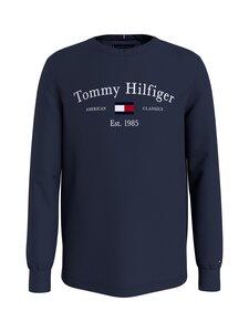 Tommy Hilfiger - Artwork Tee L/S -puuvillapaita - C87 TWILIGHT NAVY   Stockmann