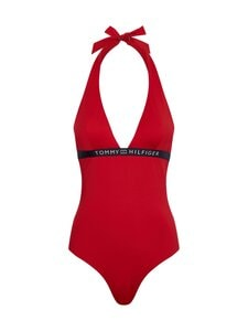 Tommy Hilfiger - One-Piece Halter -uimapuku - XLG PRIMARY RED | Stockmann