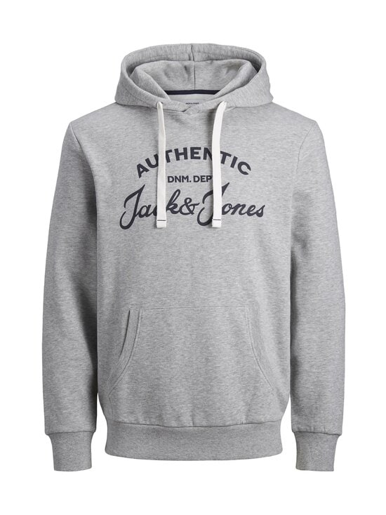Jack & Jones - JjHero Sweat Hood -huppari - LIGHT GREY MELANGE PRINT:JJ ORG - REG | Stockmann - photo 1
