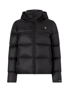 Calvin Klein Jeans - Mw Shiny Short Puffer -toppatakki - BAE CK BLACK | Stockmann