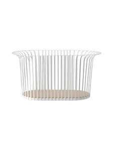 Menu - Ribbon Basket -kori - RAL9002 IVORY, TANNED COGNAC LEATHER | Stockmann