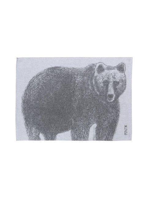 Fauna Karhu -keittiöpyyhe 50 x 70 cm