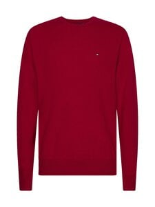 Tommy Hilfiger - Luxury Wool Cotton Crew Neck -villa-puuvillaneule - XLG PRIMARY RED | Stockmann