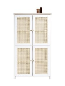 Lundia - Classic-kaappi 32 x 149 x 84 cm - WHITE LACQUERED PINE / RATTAN | Stockmann