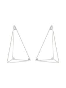 Maze - Pythagoras-hyllykiinnike, 2 kpl - VALKOINEN | Stockmann