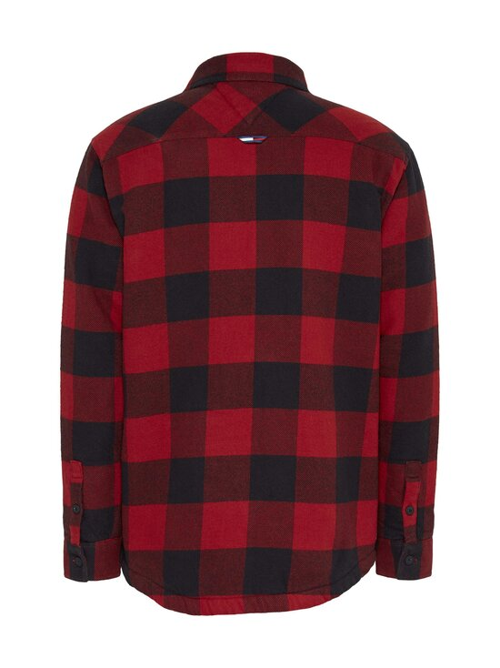 Tommy Jeans - Tjm Sherpa Flannel Overshirt -paita - XLK WINE RED / BLACK | Stockmann - photo 2