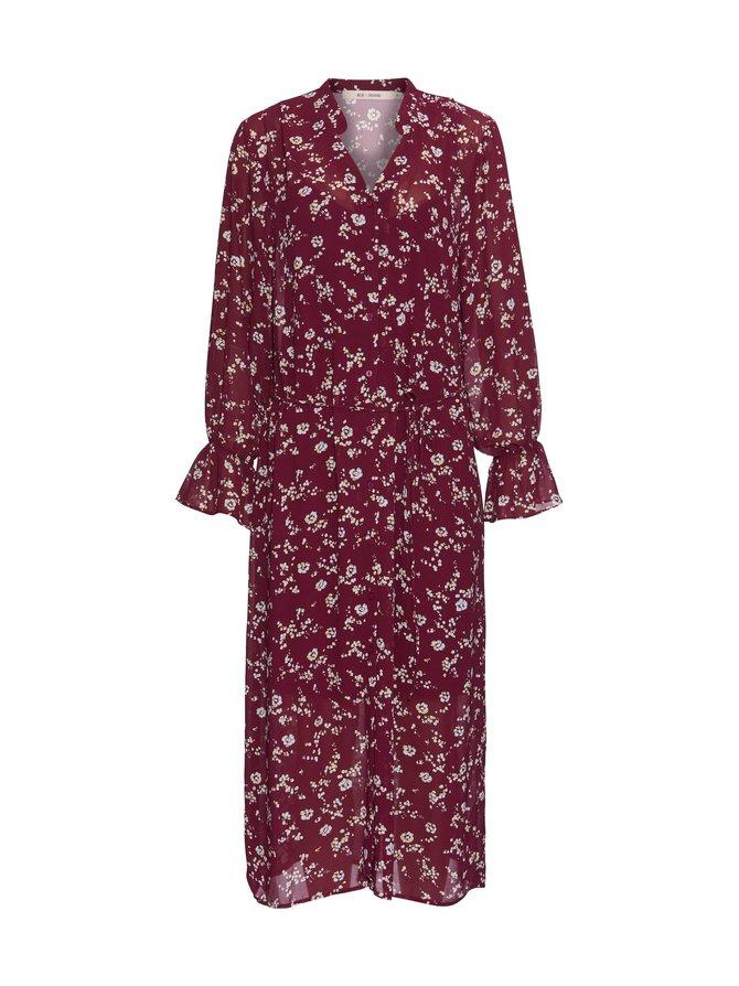 203-09148-00012-0 Silvia shirt dress RUE de FEMME  379 burgundy xs - RUE de FEMME