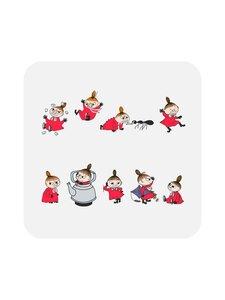 Moomin - Pikku Myy -lasinalunen 9 x 9 cm, 4 kpl - MULTICOLOURED | Stockmann