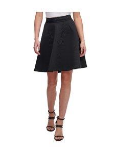 Dkny - Circle Skirt W Logo Waistband -hame - BLACK   Stockmann