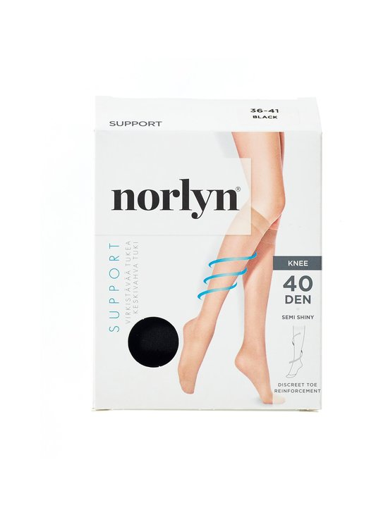 Norlyn - Support 40 den -tukipolvisukat - BLACK | Stockmann - photo 1