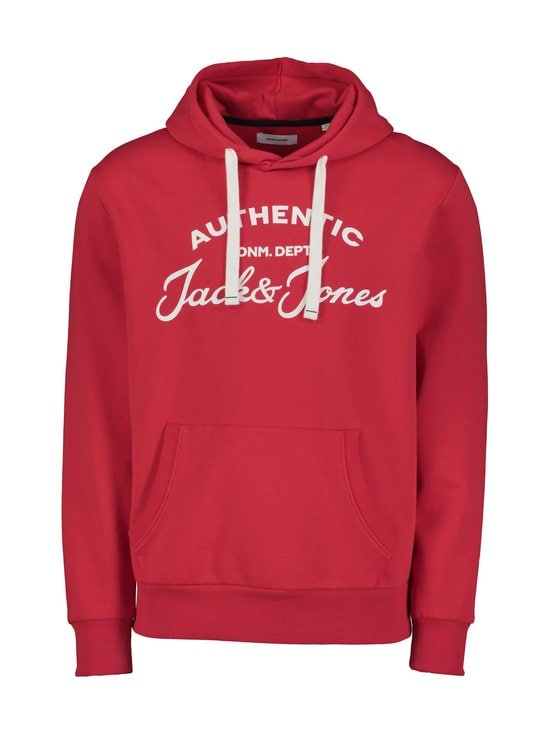 Jack & Jones - JjHero Sweat Hood -huppari - TANGO RED PRINT:JJ ORG - REG | Stockmann - photo 1
