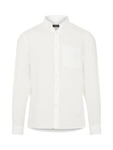 J.Lindeberg - Clean Linen Slim Shirt -pellavapaita - A003 CLOUD WHITE | Stockmann
