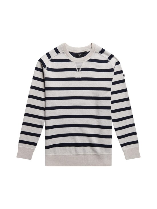 Superdry - Essential Cotton Crew -puuvillasekoiteneule - 5IM ICE MARL/NAVY STRIPE | Stockmann - photo 1