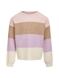 KIDS ONLY - KonSandy L/S Stripe Pullover -neule - SEPIA ROSE STRIPES:W. TOASTED COCONUT/CROCUS PETAL/WHITECAP GRAY | Stockmann