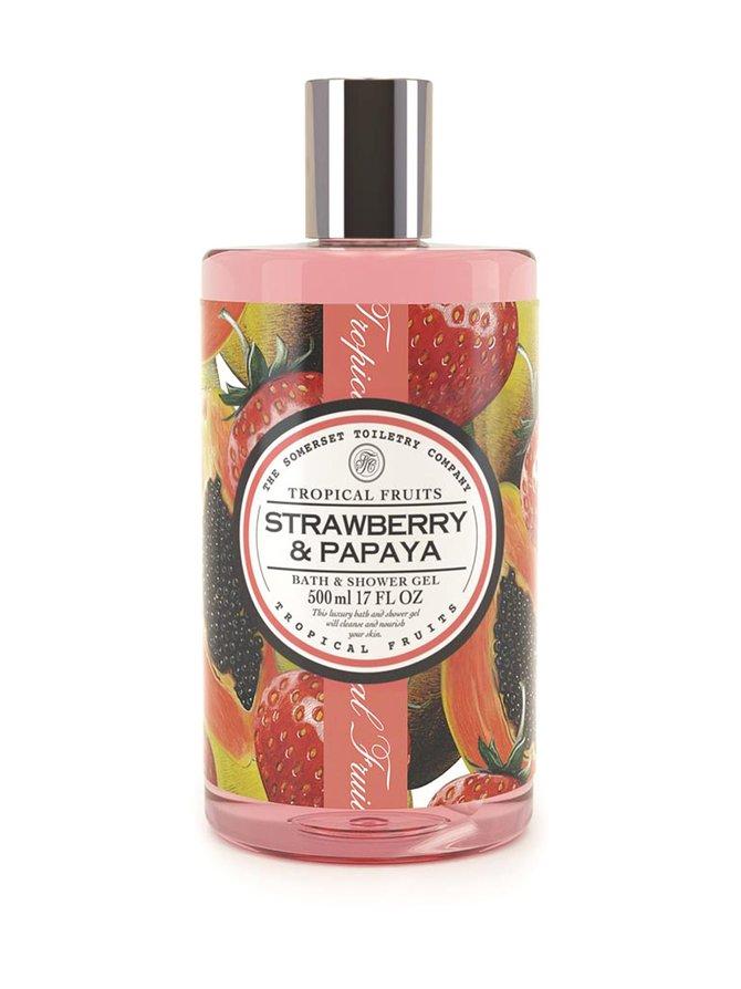 Strawberry & Papaya Bath & Shower Gel -suihkugeeli 500 ml