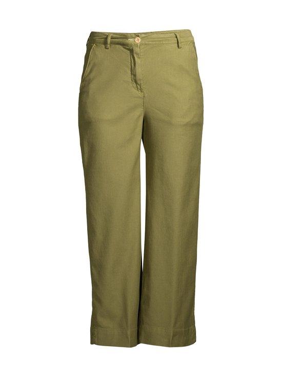 GANT - High Waist Summer Linen -housut - 365 OLIVE GREEN | Stockmann - photo 1
