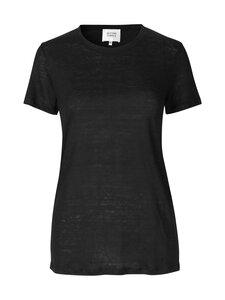 SECOND FEMALE - Peony O-neck Tee -pellavapaita - 8001 BLACK | Stockmann