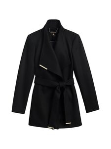 Ted Baker London - Rosess Short Wool Wrap Coat -villakangastakki - BLACK | Stockmann