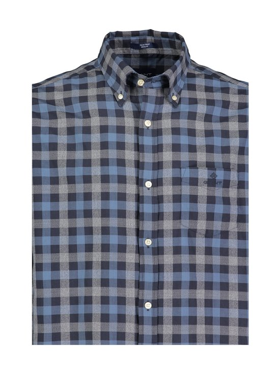 GANT - Tech Prep™ Oxford Heather Gingham -kauluspaita - MARINE | Stockmann - photo 3