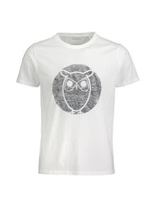 Knowledge Cotton Apparel - Alder Wave Owl -paita - 1010 BRIGHT WHITE   Stockmann