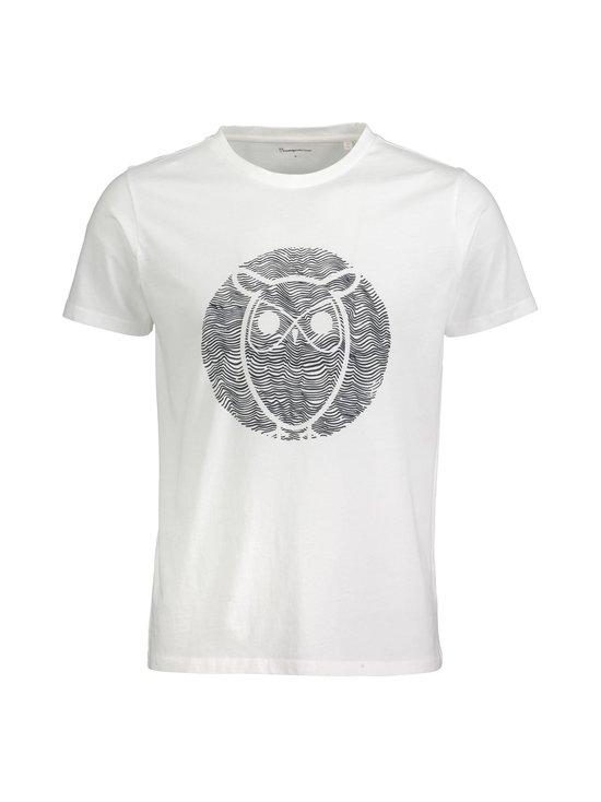 Knowledge Cotton Apparel - Alder Wave Owl -paita - 1010 BRIGHT WHITE | Stockmann - photo 1