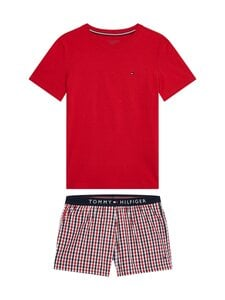 Tommy Hilfiger - SHORT SET WOVEN PRINT -pyjama - 0WH PRIMARY RED/AG/GINGHAM/YD/CHECK | Stockmann
