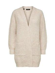 Selected - SlfLulu LS Knit Long Cardigan -neuletakki - 13-0905 TCX BIRCH | Stockmann