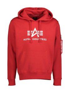 Alpha Industries - 3D Logo Hoody -huppari - SPEED RED 328 | Stockmann