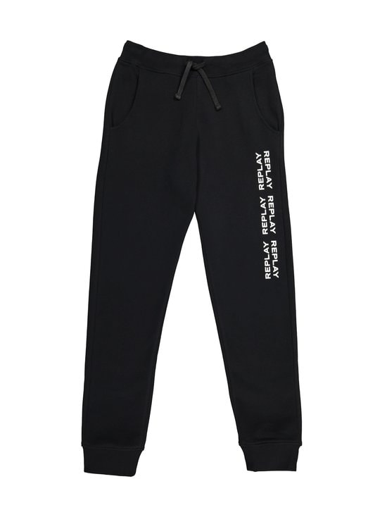 Replay & Sons - Carbon Finish Fleece Jogger -housut - 098 BLACK | Stockmann - photo 1