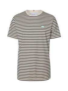 Les Deux - Sailor Stripe Patch T-Shirt -paita - 904033-OFF WHITE+DARK NAVY/MINT+WHITE | Stockmann