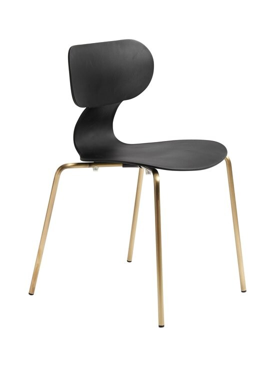 Muubs - Yogo S -tuoli 47 x 79 x 47 cm - BLACK/ANTIQUE BRASS   Stockmann - photo 2