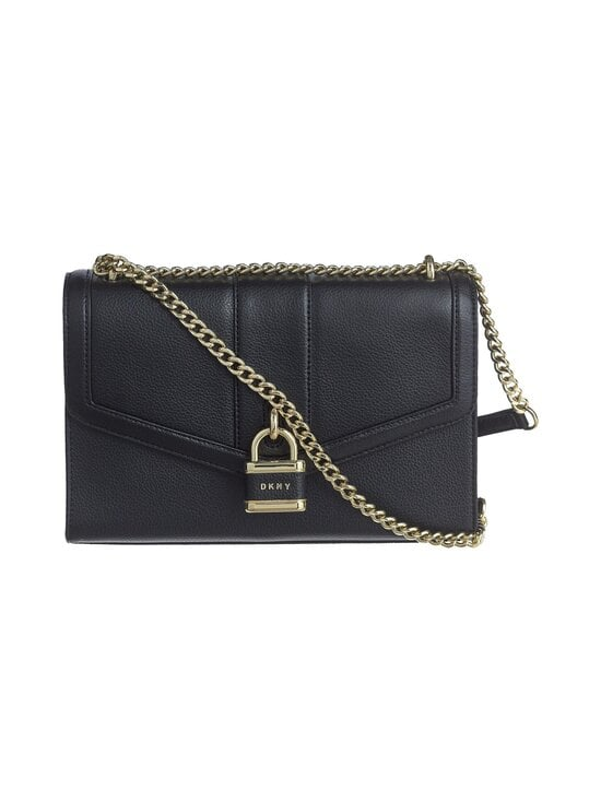 Dkny - Ella Large Shoulder Flap -nahkalaukku - BGD - BLK/GOLD | Stockmann - photo 1