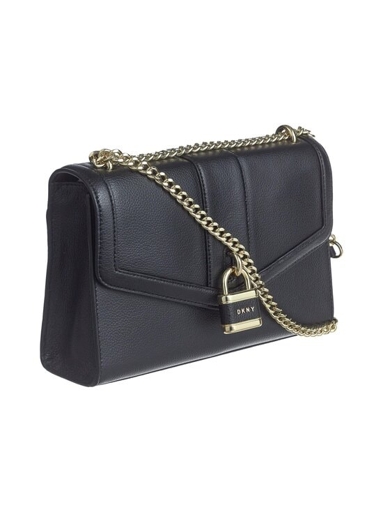 Dkny - Ella Large Shoulder Flap -nahkalaukku - BGD - BLK/GOLD | Stockmann - photo 2