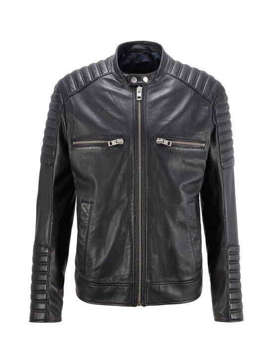 BOSS - Jakoby Leather -nahkatakki - 001 BLACK   Stockmann - photo 1