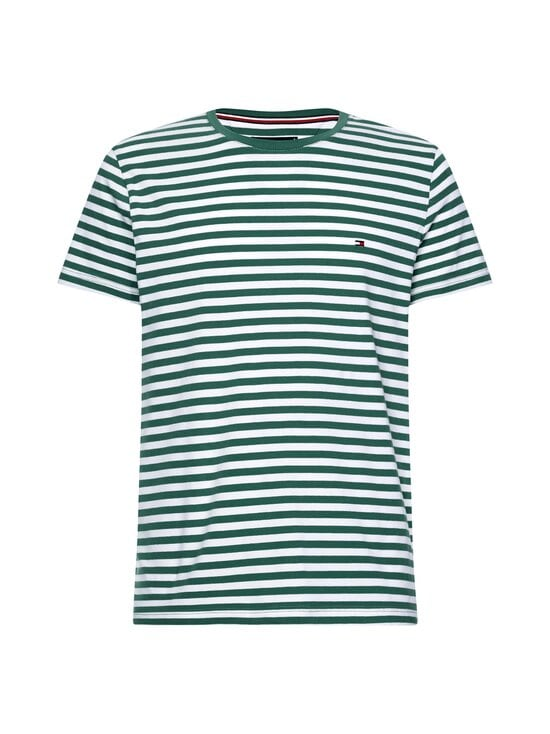 Tommy Hilfiger - Stretch Slim Fit Tee -paita - 0CD RURAL GREEN/WHITE | Stockmann - photo 1