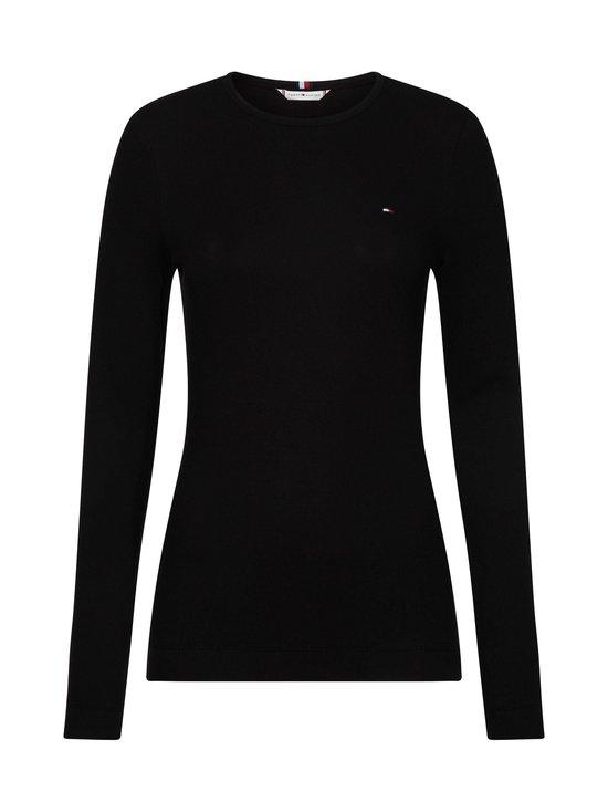 Tommy Hilfiger - TH Essential Rib-Knit Long Sleeve -paita - BDS BLACK | Stockmann - photo 1