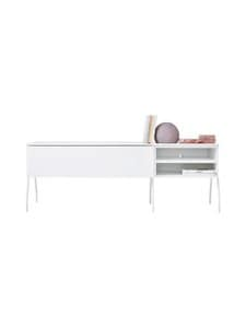 Lundia - Fuuga-tv-taso 48 x 52 x 144 cm - WHITE PAINTED MDF/WHITE METAL | Stockmann